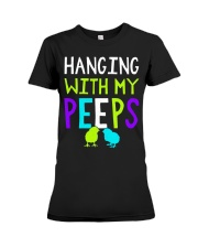 Hanging with my peeps funny easter t shirt Premium Fit Ladies Tee thumbnail