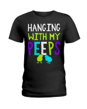 Hanging with my peeps funny easter t shirt Ladies T-Shirt thumbnail