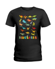 Dinosaur Tshirt Science Museum Teacher 20 Ju Ladies T-Shirt tile