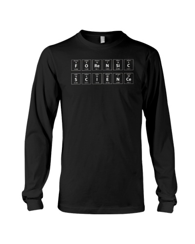 Forensic Science Periodic Table Tshirt Black