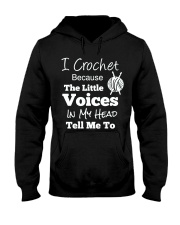 I Crochet Because The Little Voices In My Head Hooded Sweatshirt thumbnail