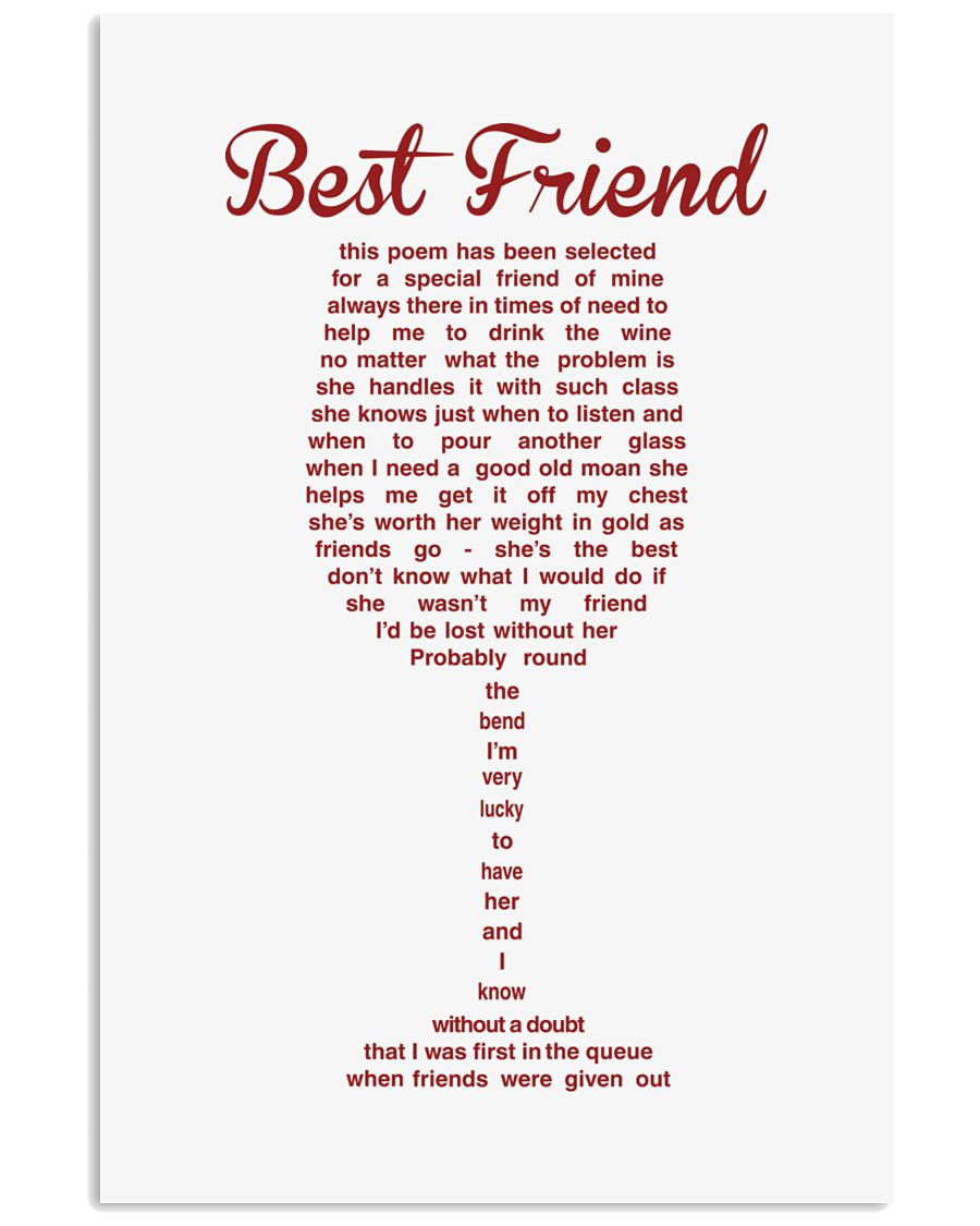 Perfect poster for best friend best sister 11x17 Poster