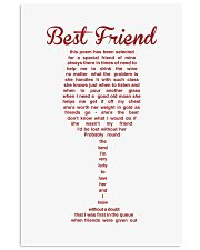 Perfect poster for best friend best sister 11x17 Poster front