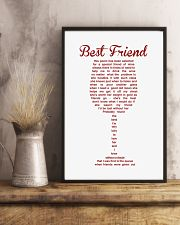 Perfect poster for best friend best sister 11x17 Poster lifestyle-poster-3
