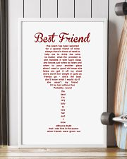 Perfect poster for best friend best sister 11x17 Poster lifestyle-poster-4