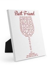 Perfect poster for best friend best sister 8x10 Easel-Back Gallery Wrapped Canvas thumbnail