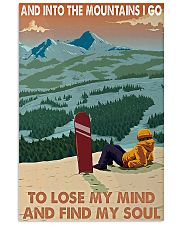Snowboard And into the mountains I go poster 11x17 Poster front