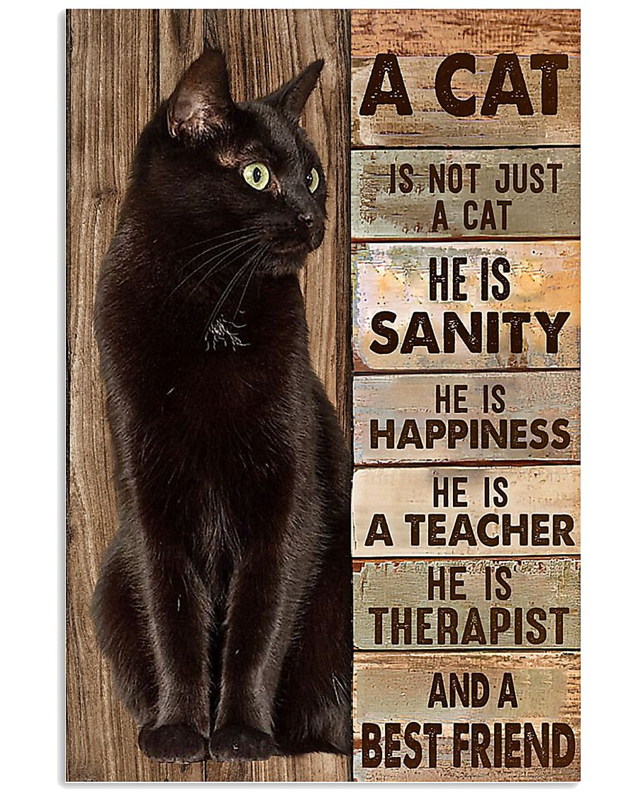 A cat is not just a cat he is sanity he is happine 11x17 Poster