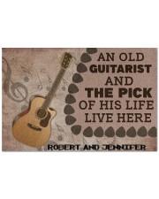"""Doormat personalized custom name An old guitarist Doormat 22.5"""" x 15""""  front"""