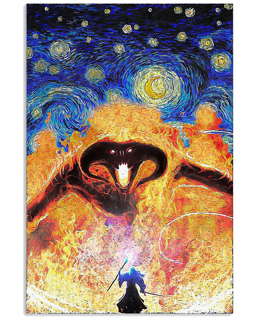 Balrog LOTR fire demon starry night poster 11x17 Poster
