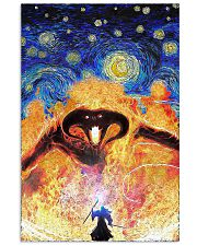 Balrog LOTR fire demon starry night poster 11x17 Poster front