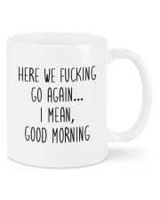 Here we fucking go again I mean good morning mug Mug front
