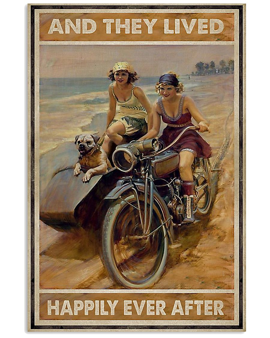 Biker And they lived happily ever after poster 11x17 Poster