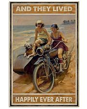 Biker And they lived happily ever after poster 11x17 Poster front