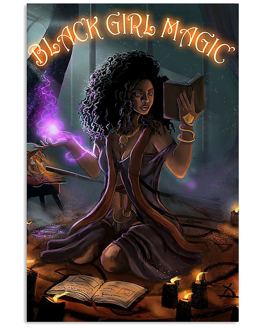 Witch black girl magic poster 11x17 Poster