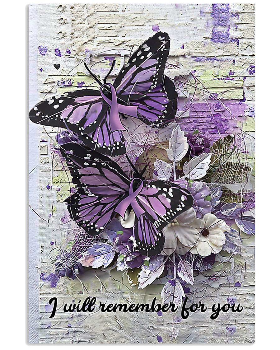 Butterfly purple ribbon I will remember poster 11x17 Poster
