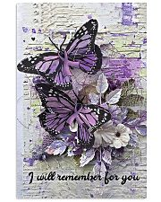 Butterfly purple ribbon I will remember poster 11x17 Poster front