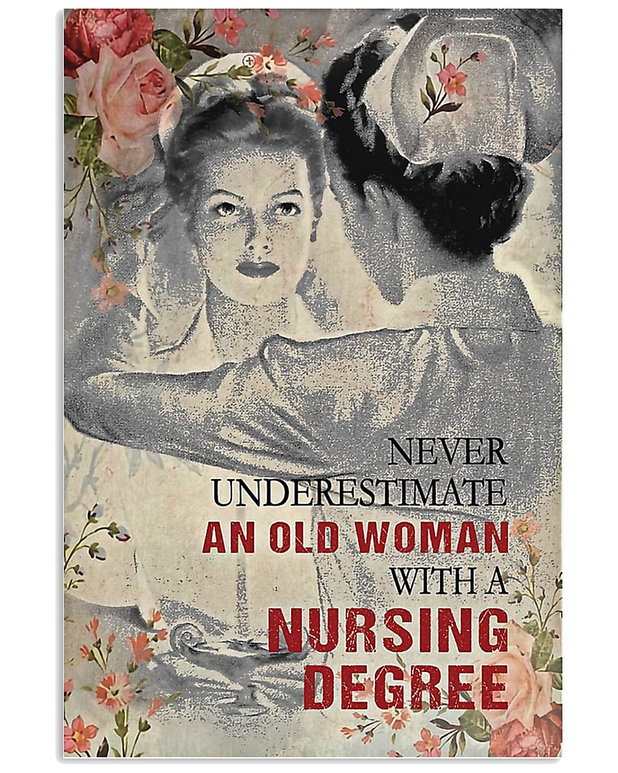 Never underestimate an old woman poster 11x17 Poster