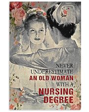 Never underestimate an old woman poster 11x17 Poster front