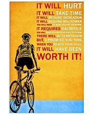 Cycling it will hurt it will take time poster 11x17 Poster front