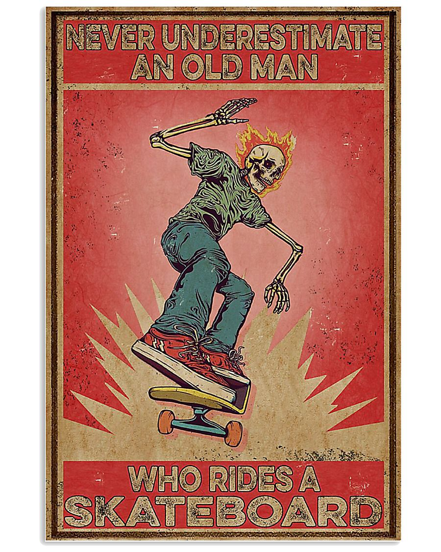 Never underestimate an old man poster 11x17 Poster