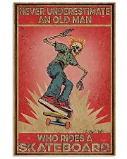 Never underestimate an old man poster 11x17 Poster front