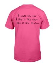 Billie eilish special t-shirt Classic T-Shirt back