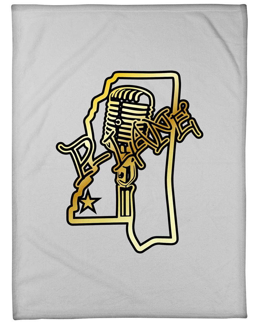 """P-Lane House Products Gold and Black logo Large Fleece Blanket - 60"""" x 80"""""""