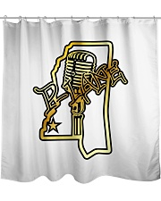 P-Lane House Products Gold and Black logo Shower Curtain thumbnail