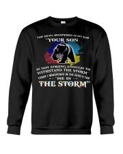 MAMA BEAR MY SON I AM THE STORM  Crewneck Sweatshirt thumbnail