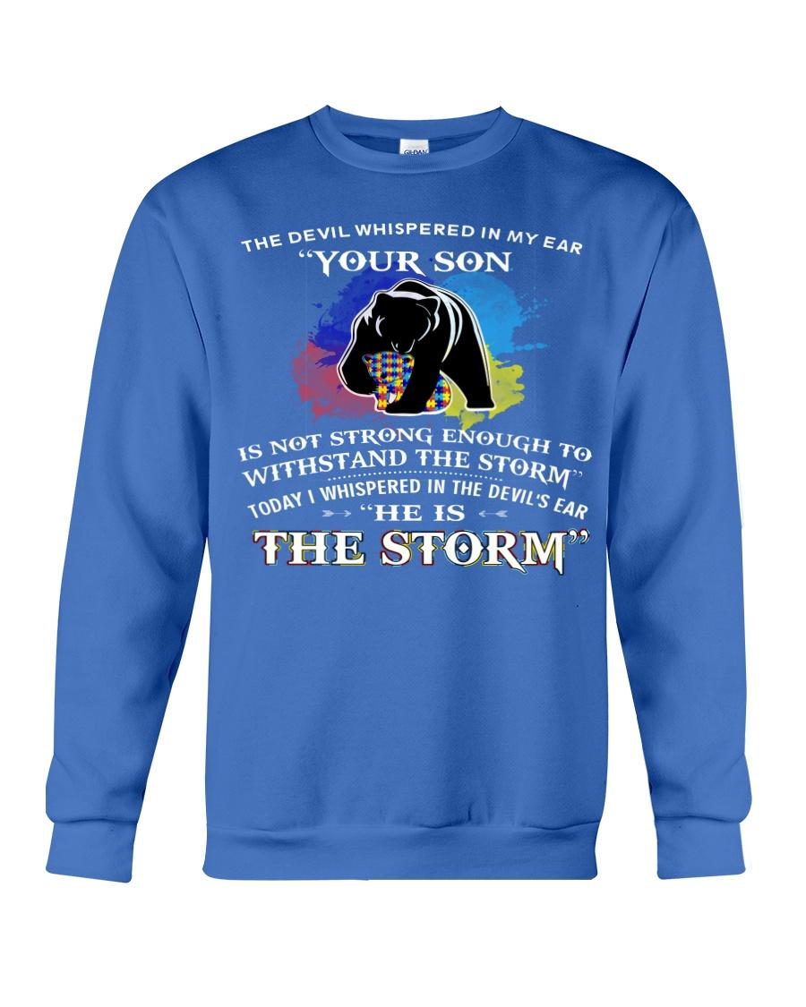 MAMA BEAR MY SON I AM THE STORM  Crewneck Sweatshirt