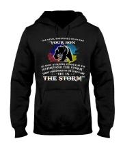 MAMA BEAR MY SON I AM THE STORM  Hooded Sweatshirt thumbnail