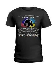 MAMA BEAR MY SON I AM THE STORM  Ladies T-Shirt thumbnail