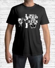 Will BBQ for Beer Classic T-Shirt lifestyle-mens-crewneck-front-1
