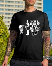 Will BBQ for Beer Classic T-Shirt lifestyle-mens-crewneck-front-8