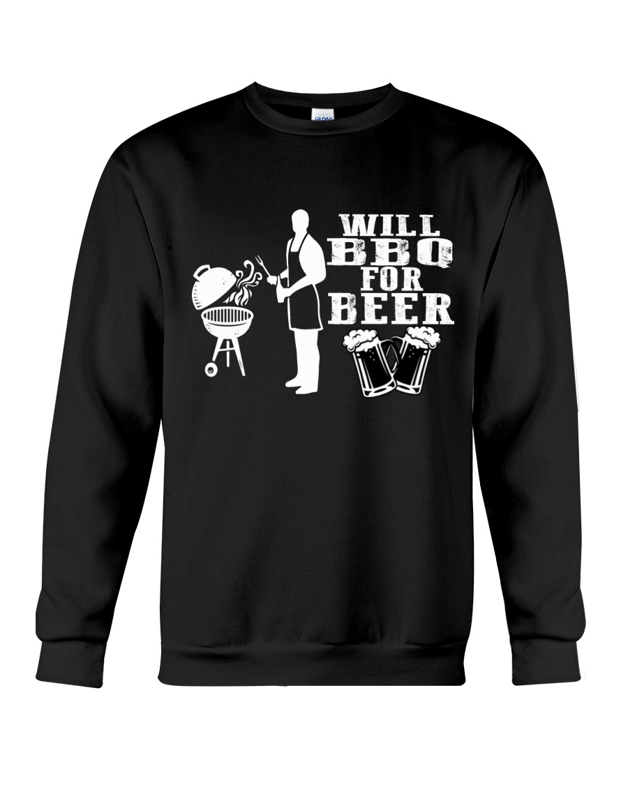 Will BBQ for Beer Crewneck Sweatshirt