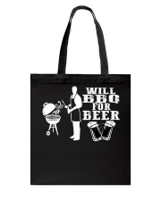 Will BBQ for Beer Tote Bag front