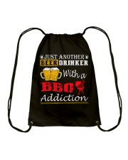 Just another beer drinker with a BBQ addiction Drawstring Bag thumbnail