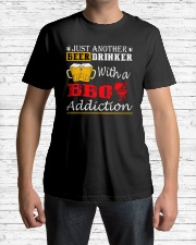 Just another beer drinker with a BBQ addiction Classic T-Shirt lifestyle-mens-crewneck-front-1