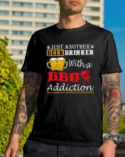 Just another beer drinker with a BBQ addiction Classic T-Shirt lifestyle-mens-crewneck-front-8