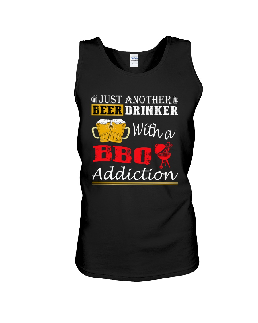 Just another beer drinker with a BBQ addiction Unisex Tank