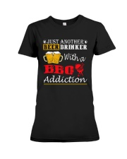 Just another beer drinker with a BBQ addiction Premium Fit Ladies Tee thumbnail