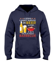 A Woman Cannot Survive on Beer Alone Hooded Sweatshirt front