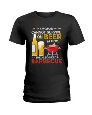 A Woman Cannot Survive on Beer Alone Ladies T-Shirt thumbnail