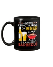 A Woman Cannot Survive on Beer Alone Mug back