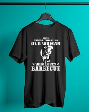 Never underestimate an old woman Classic T-Shirt lifestyle-mens-crewneck-front-3