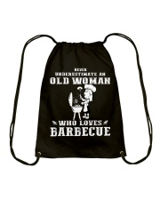 Never underestimate an old woman Drawstring Bag thumbnail