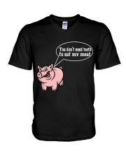 Grill master you dont need teeth to eat my meat 2 V-Neck T-Shirt thumbnail