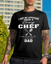 DAD IS A CRAZY CHEF Classic T-Shirt lifestyle-mens-crewneck-front-8