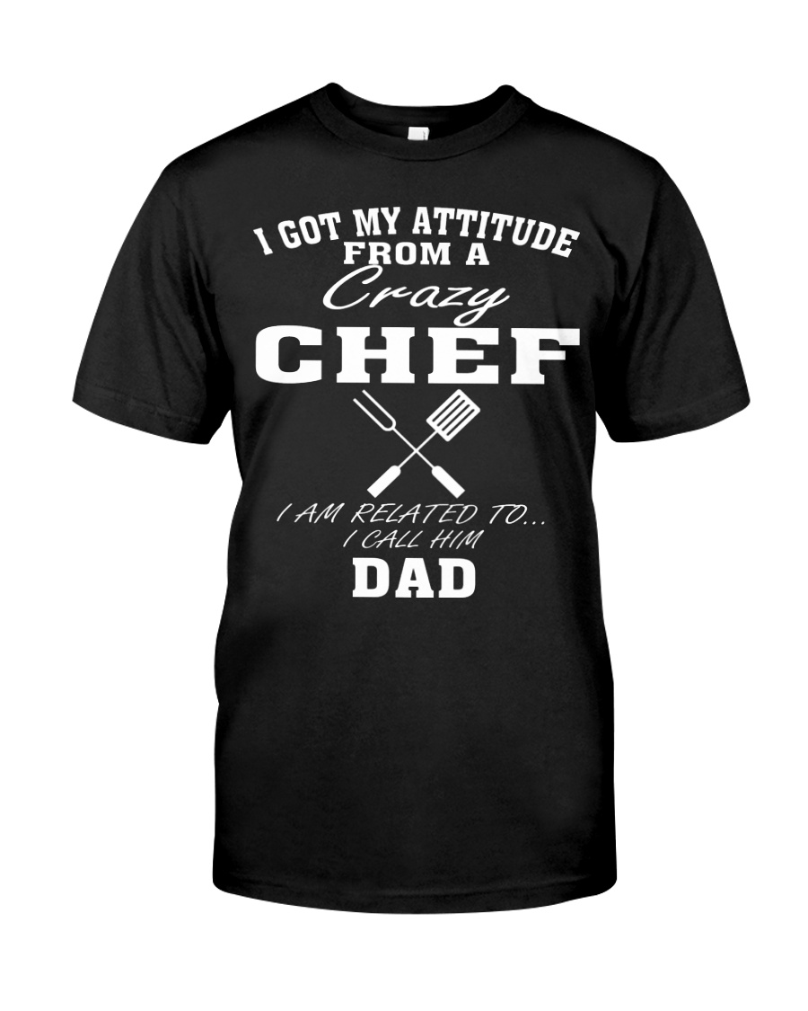 DAD IS A CRAZY CHEF Premium Fit Mens Tee